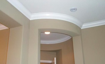 curved crown molding painting
