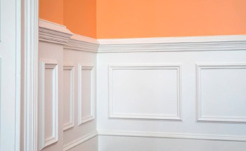 wainscoting crown molding painting